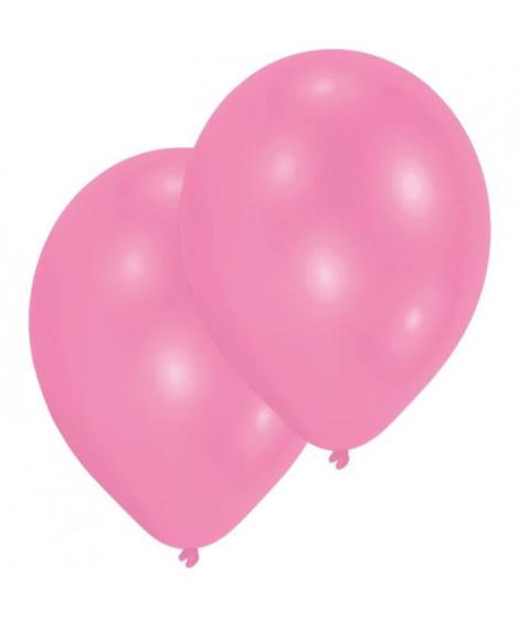 AMSCAN Lot de 10 Ballons en latex Premium 27,5 cm/11'' - Rose
