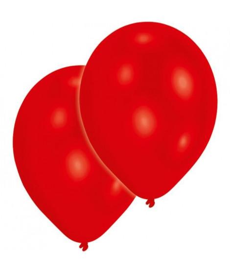 AMSCAN Lot de 10 Ballons en latex 27,5 cm/11'' - Rouge métallique