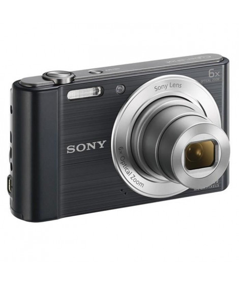 SONY DSC-W810 Noir - CCD 20 MP Zoom 6x Appareil photo numérique Compact