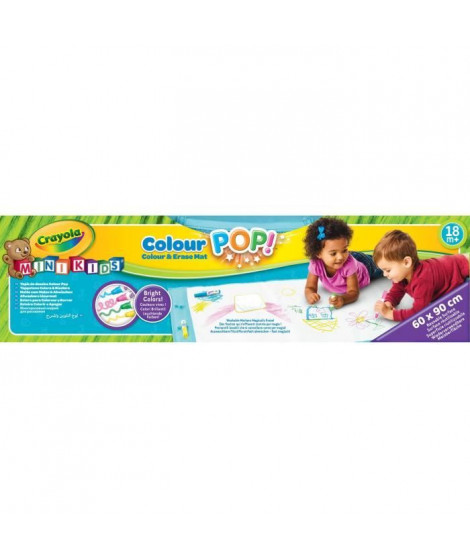Crayola - Mini Kids - Tapis de Dessins Color Pop! - 18 mois - Coloriage pour enfant et tout petit