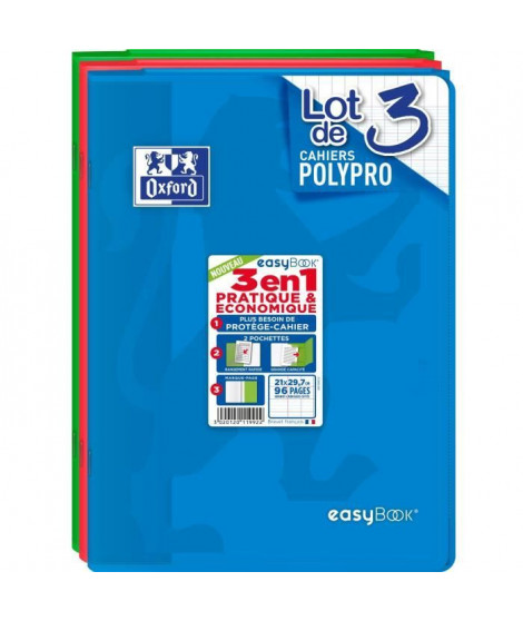 OXFORD Cahiers Easybook A4 Seyes - Assorti