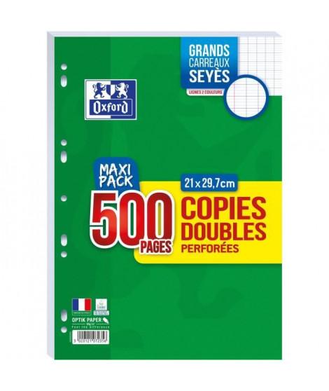 OXFORD - Copies doubles perforées 500 pages seyes - 90g