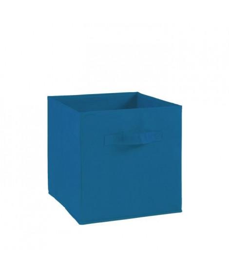 COMPO Tiroir de rangement - Tissu - 27 x 27 x 28 cm - Bleu électrique