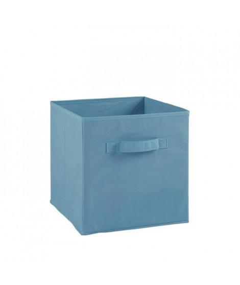 COMPO Tiroir de rangement - Tissu - 27 x 27 x 28 cm - Bleu turquoise