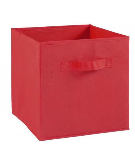 COMPO Tiroir de rangement - Tissu - 27 x 27 x 28 cm - Rouge