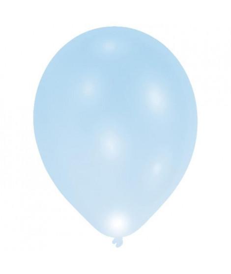 Lot de 7 Ballons avec LED - Latex - 27,5 cm - Bleu