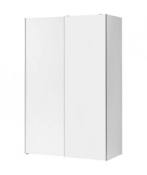 Armoire 2 portes coulissantes - Blanc - L 120 x P 61,2 x H 190,5 cm - OZZULA