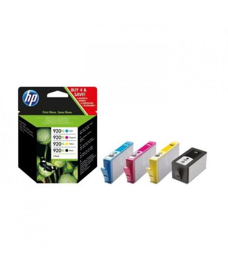 HP 920XL pack de 4 cartouches d'encre noire/cyan/magenta/jaune authentiques pour HP OfficeJet 6000/6500/7000/7500 (C2N92AE)