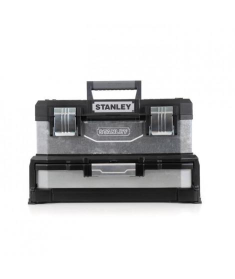 STANLEY Boite a outils a tiroir galvanisée 51cm vide