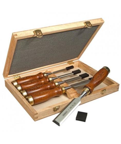 Coffret de 5 ciseaux a bois Sculpteur STANLEY