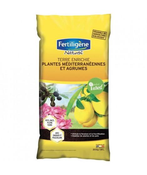 FERTILIGENE Terre Enrichie Agrumes et Plantes méditerranéennes - 20kg