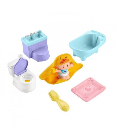 FISHER-PRICE Little People Babies L'heure du Bain et du Pot - GKP66 - Figurine pour bébé - de 18 mois a 5 ans