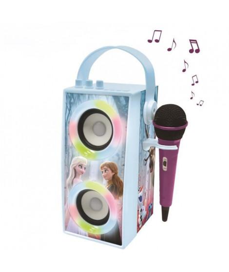 LA REINE DES NEIGES Enceinte Tendance Bluetooth portable avec micro et effets lumineux LEXIBOOK