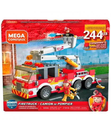 MEGA CONSTRUX Camion de Pompier - GLK54 - Briques de construction - 5 ans et +