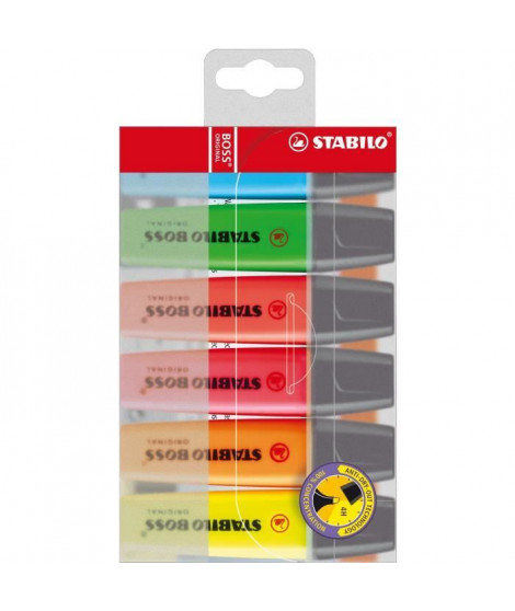 STABILO - 6 surligneurs BOSS ORIGINAL