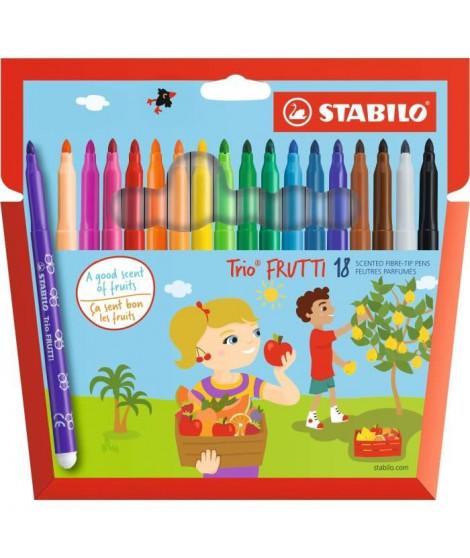 STABILO Trio FRUTTI - Etui carton  18 feutres de coloriage