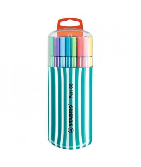 STABILO 20 feutres de coloriage Zebrui Pen 68 - Décor pack turquoise