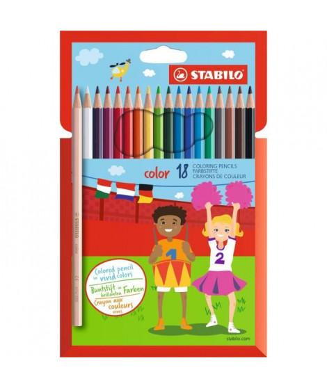 STABILO 18 crayons de couleur STABILO Color
