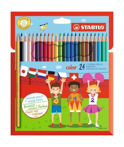 STABILO Etui carton de 24 crayons de couleur Color