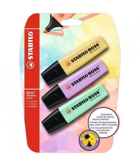 STABILO 4 stylos-feutres SENSOR F - pointe fine : turquoise + rose + lilas + vert clair