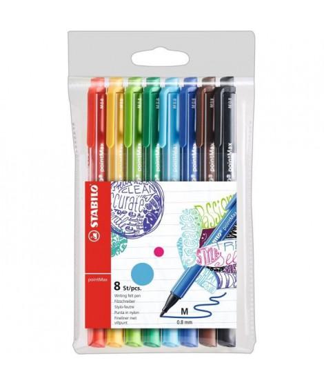 Pochette x 8 stylos-feutres STABILO pointMax