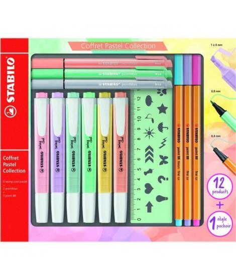 Coffret STABILO Pastel Collection x 13 STABILO Mixte STABILO pastel collection 13 pieces: 6 STABILO swing cool + 3 STABILO po…
