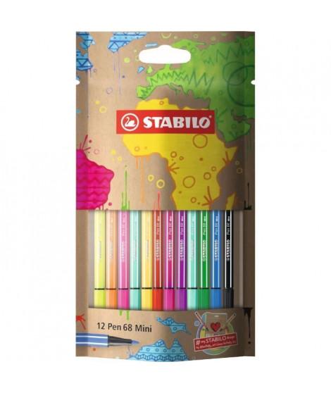 Sachet x 12 feutres de dessin STABILO Pen 68 Mini mySTABILOdesign