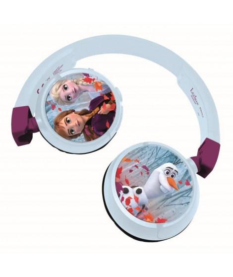 LA REINE DES NEIGES Casque 2-en-1 Bluetooth et filaire confortable et pliable pour enfants avec limitation de son - LEXIBOOK