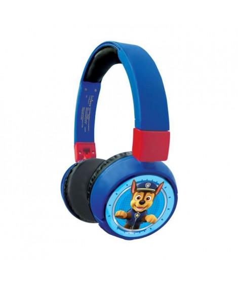 PAT' PATROUILLE Casque 2-en-1 Bluetooth et filaire confortable et pliable pour enfants avec limitation de son - LEXIBOOK