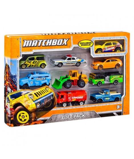 MATCHBOX Pack de 9 véhicules - X7111 - Petites Voitures - 3 ans et +