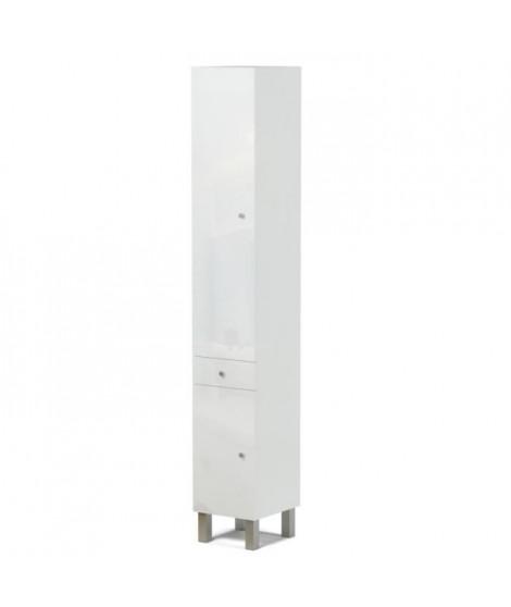 CORAIL Colonne de salle de bain L 30 cm - Blanc laqué