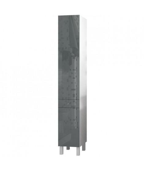 CORAIL Colonne de salle de bain L 30 cm - Gris laqué
