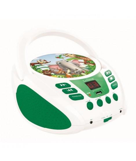 LEXIBOOK Lecteur CD portable enfant aux couleurs des animaux - port USD et fonction Aux-In
