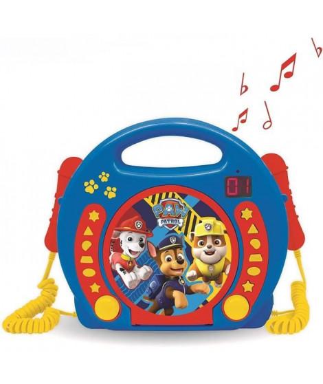 LEXIBOOK - PAT' PATROUILLE - Lecteur CD Karaoké Enfant avec 2 microphones - Enfant - Garçon - A partir de 3 ans
