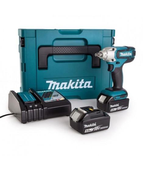 MAKITA Boulonneuse a chocs + 2 batteries 18V 5Ah Li-Ion + Coffret Makpac DTW190RTJ