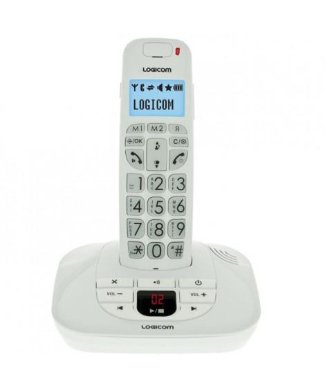 Logicom Confort 155T Téléphone Sans Fil Répondeur Blanc Senior