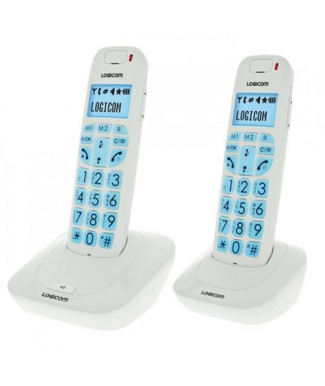Logicom Confort 250 Duo Téléphone Sans Fil Sans Répondeur Blanc Senior