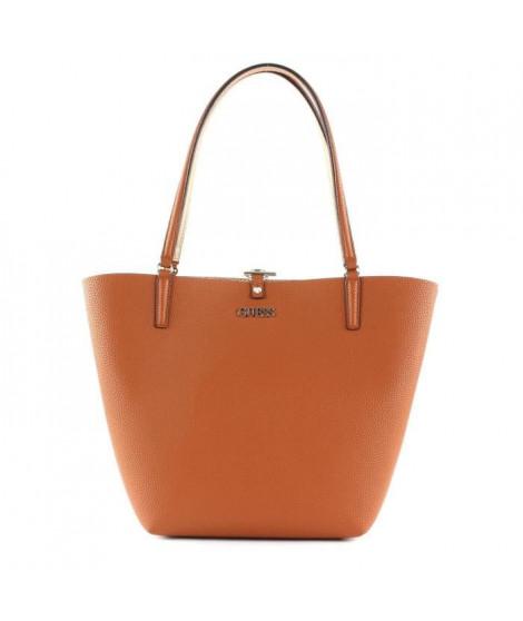 GUESS - sac a main femme - cognac / - rose gold