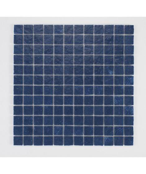 U-TILE Mosaique en resine imitation pierre 100 x 50 cm - carreau 2,5 x 2,5 cm - bleu nuit