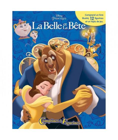 DISNEY LA BELLE ET LA BETE 12 figurines et un tapis de jeu - Livre cartonné de 10 pages - Editions Phidal
