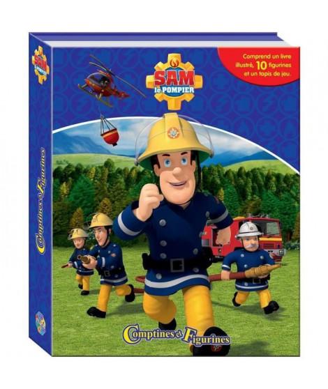 SAM LE POMPIER 10 figurines et un tapis de jeu - Livre cartonné de 10 pages - Editions Phidal