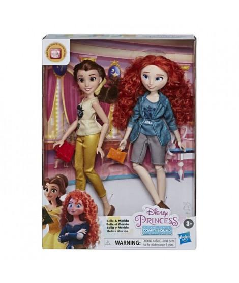 Disney Princesses - Poupees tendances Comfy Squad Belle et Merida - 30 cm