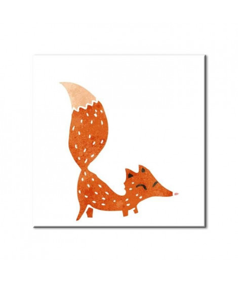 FOX Tableau imprimé 50x50cm - Renard
