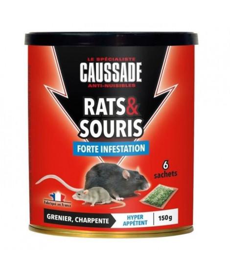 CAUSSADE Boîte 6 sachets céréales - Pour rats & souris - 150 g