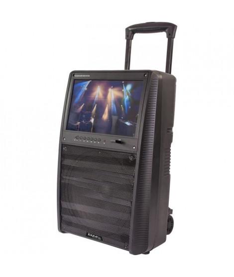 IBIZA SOUND 17-2510 Enceinte portable autonome 12/30cm, 800W - Ecran TFT couleur 15, Bluetooth, télécommande & 2 micros UHF