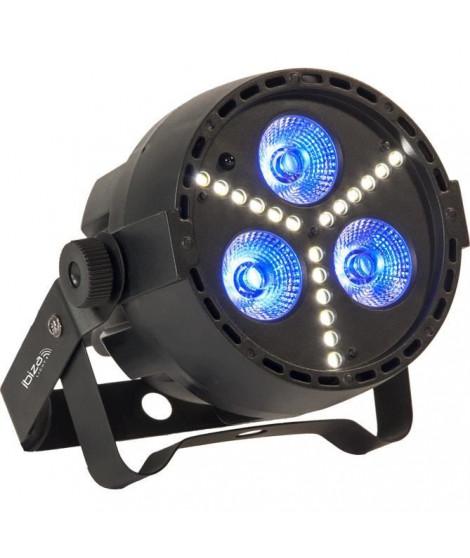 IBIZA PAR-MINI-STR Projecteur par a led rgbw 4 en 1 avec stroboscope a led smd - Noir