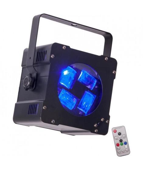 IBIZA HYPNO40-LED Effet de lumiere psychedelique 4 leds cree 4 en 1 de 10w rgbw - Noir