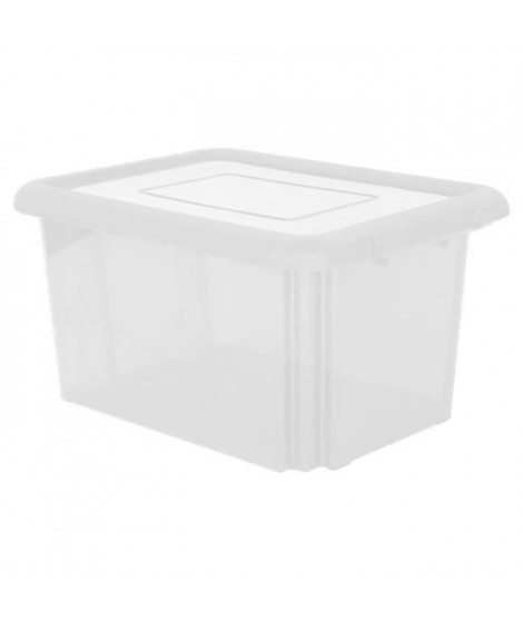EDA PLASTIQUE Boîte de rangement Funny Box 55 L - Naturel - 57,5 x 44 x 31 cm