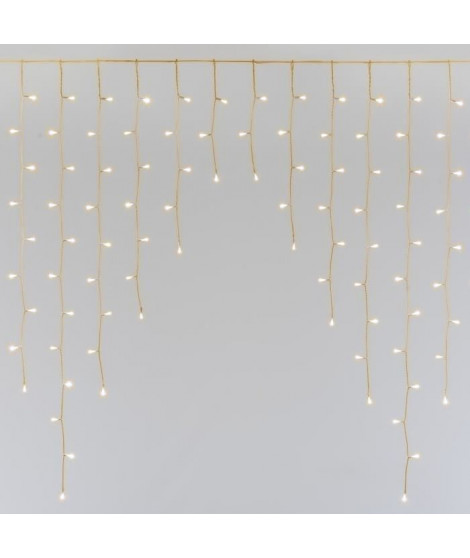 LOTTI Stalactite - Flash 300 LED - Super blanc chaud - L 450x H 120 cm