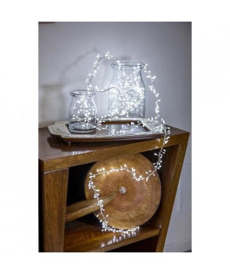 LOTTI Guirlande lumineuse grappe - 600 micro-LED MiniCluster Ø5 cm - Blanc froid - 5 m